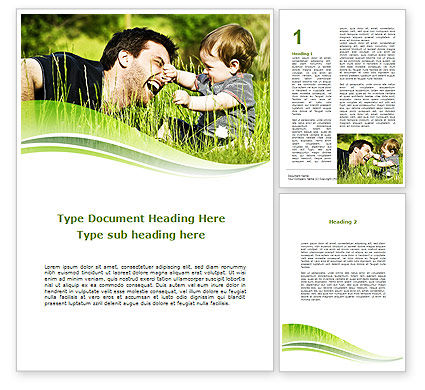Parenthood Word Template, 09176, People — PoweredTemplate.com