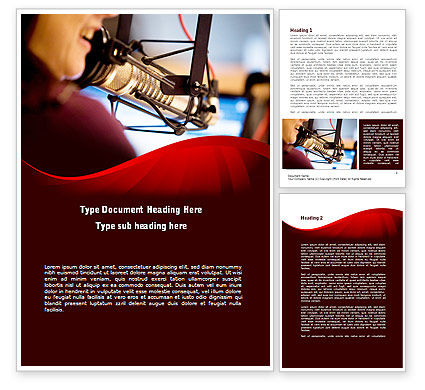 Singing Girl Word Template, 09180, Telecommunication — PoweredTemplate.com