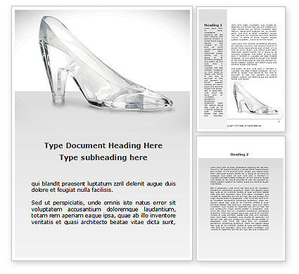 Crystal Shoe Word Template, 09182, Utilities/Industrial — PoweredTemplate.com