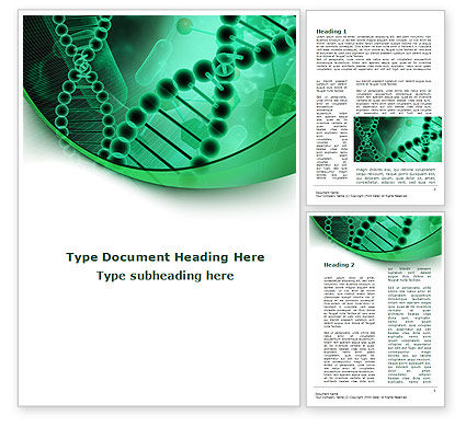 Medical: Dna Studie Word Template #09183