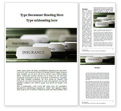 Business: Insurance Tab Word Template #09185