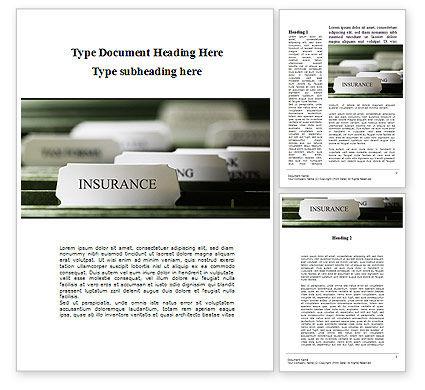 Insurance Tab Word Template, 09185, Business — PoweredTemplate.com