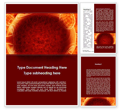 Technology, Science & Computers: Red Sphere Word Template #09186