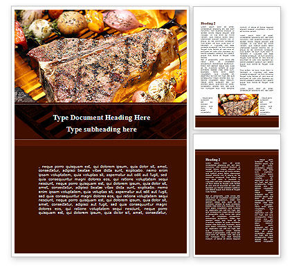 Food & Beverage: Stake Word Template #09188