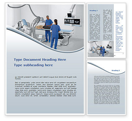 Medical: Tomography Equipment Word Template #09191