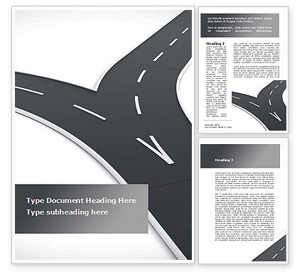 Roads Fork Word Template, 09194, Consulting — PoweredTemplate.com