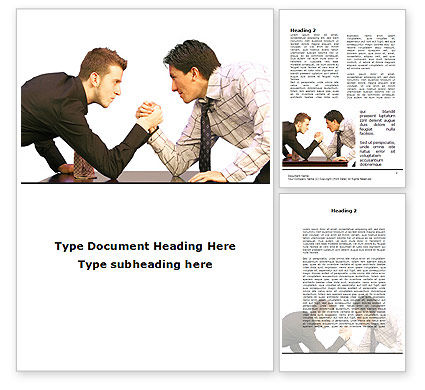 Armwrestling Word Template, 09199, Consulting — PoweredTemplate.com