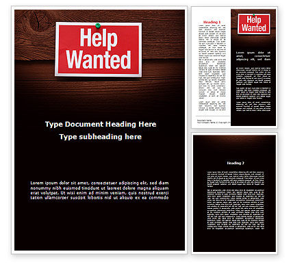 Help Wanted Word Template 09207 | PoweredTemplate.com