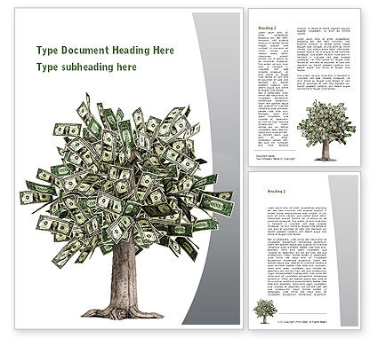 Mature Money Tree Word Template, 09208, Financial/Accounting — PoweredTemplate.com