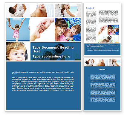 Mother Care Word Template, 09210, People — PoweredTemplate.com