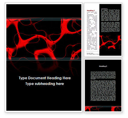 Arteries Carrying Blood Word Template, 09211, Medical — PoweredTemplate.com