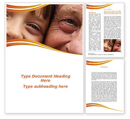 Grandfather And Grandson Word Template, 09215, People — PoweredTemplate.com