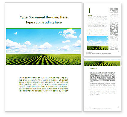 Cultivated Field Word Template