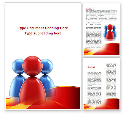 Group Leader Word Template, 09219, Consulting — PoweredTemplate.com