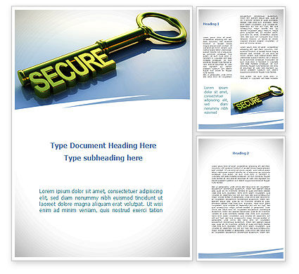 Secure Key Word Template, 09224, Construction — PoweredTemplate.com
