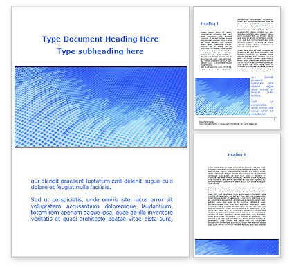 Abstract/Textures: Abstract Blue Ribbon Word Template #09225