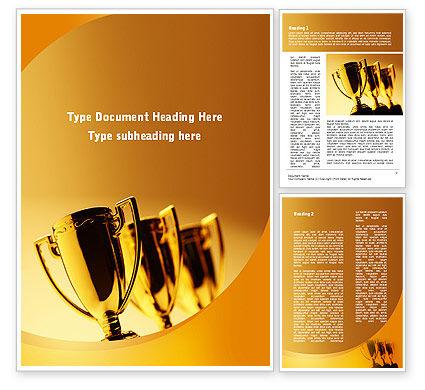 Sports: Winner Goblets Word Template #09229