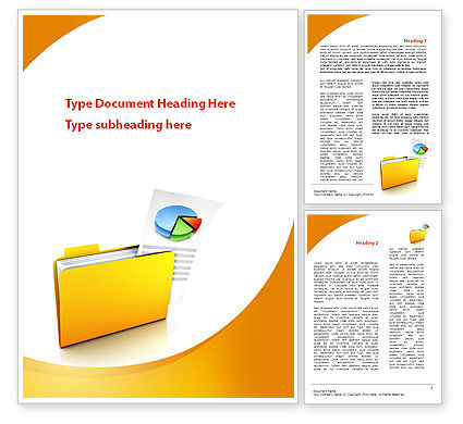 Consulting: Folder with Diagram Word Template #09232