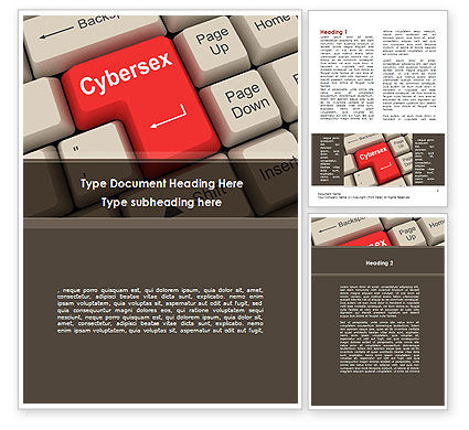 Cybersex Word Template, 09235, Technology, Science & Computers — PoweredTemplate.com