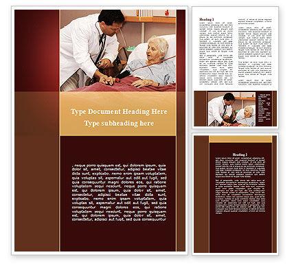 Elder Cares Word Template, 09238, Medical — PoweredTemplate.com