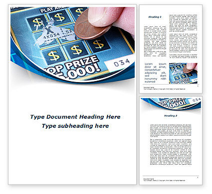 Scratch Card Word Template, 09244, Careers/Industry — PoweredTemplate.com