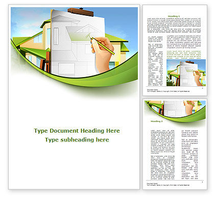 Construction: Cottage Construction Chart Word Template #09246