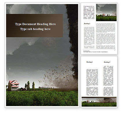 Tornado Word Template, 09251, Nature & Environment — PoweredTemplate.com