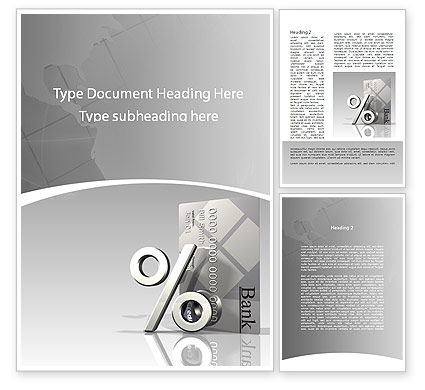 Banking Word Template, 09254, Financial/Accounting — PoweredTemplate.com