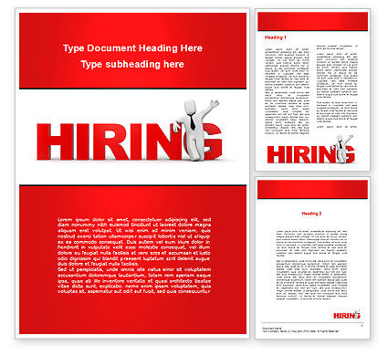 Consulting: Hiring Word Template #09255