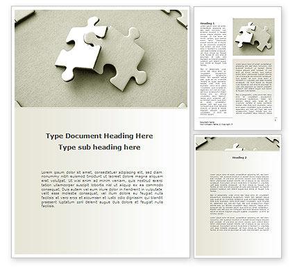 Puzzle Pieces Word Template, 09259, Business — PoweredTemplate.com