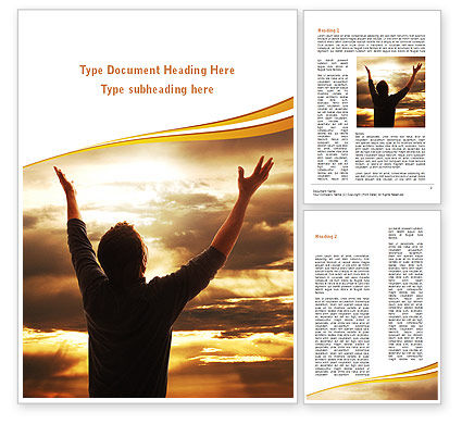 Religious/Spiritual: High Hopes Word Template #09261