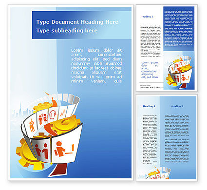 Lifestyle Word Template, 09264, Careers/Industry — PoweredTemplate.com