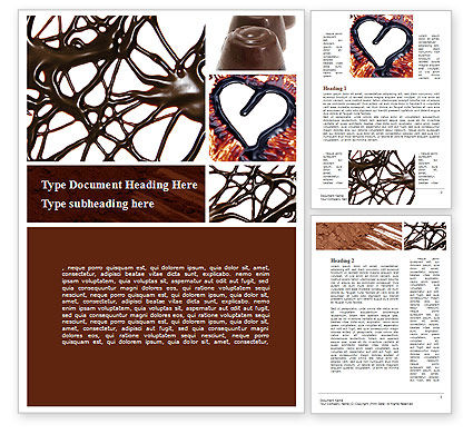 Chocolate Word Template, 09268, Food & Beverage — PoweredTemplate.com