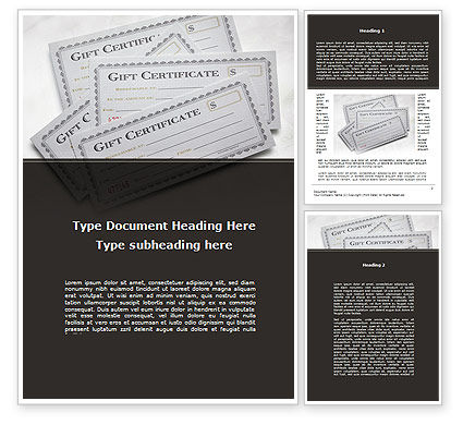 Gift Certificate Word Template, 09270, Financial/Accounting — PoweredTemplate.com