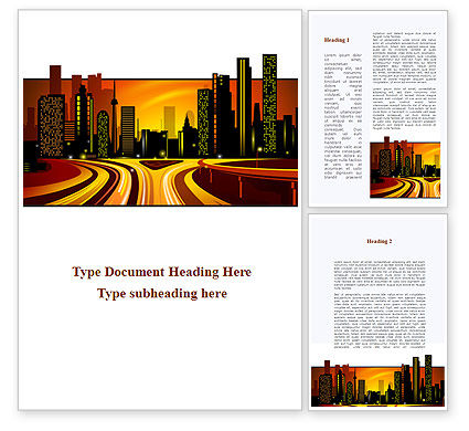 Construction: City Landscape Word Template #09272