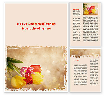 Tulip Word Template, 09274, Holiday/Special Occasion — PoweredTemplate.com