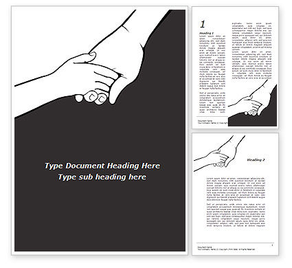 Consulting: Hand to Hand Word Template #09275