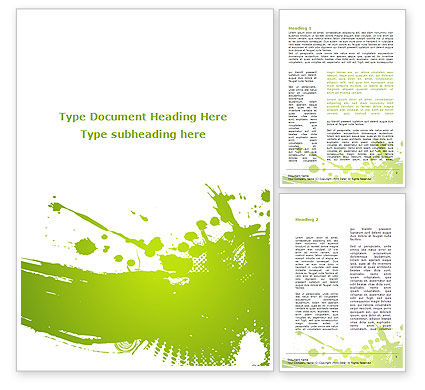 Abstract/Textures: Green Splash Word Template #09278