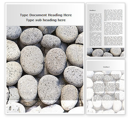 Pebble Word Template, 09282, Nature & Environment — PoweredTemplate.com