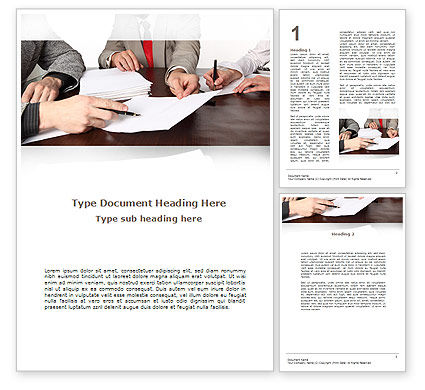 Business Meeting Word Template, 09287, Consulting — PoweredTemplate.com