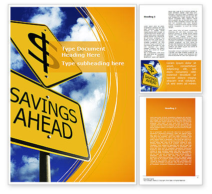Financial/Accounting: Saving Ahead Word Template #09294