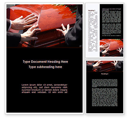 Coffin Word Template, 09301, Religious/Spiritual — PoweredTemplate.com