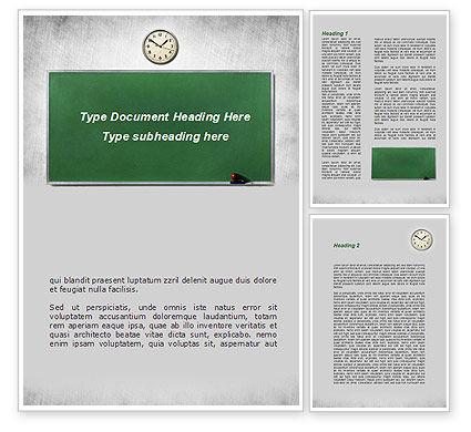 Education & Training: Blackboard In A Classroom Word Template #09302