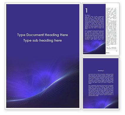 Abstract/Textures: Blue Gefragmenteerde Oppervlak Word Template #09305
