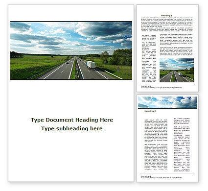 Road Freight Word Template