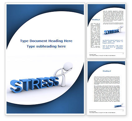 Consulting: Stress Behandeling Word Template #09313