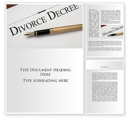 Divorce Decree Word Template, 09317, Consulting — PoweredTemplate.com