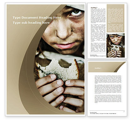 Consulting: Outcast Children Word Template #09321