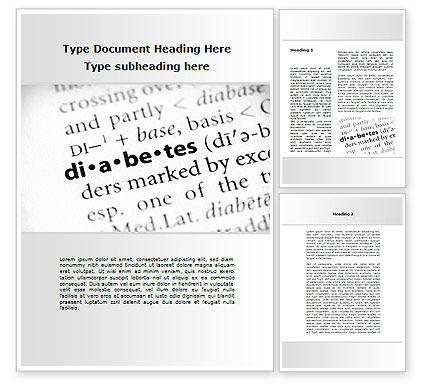 Medical: Diabetes Word Template #09323