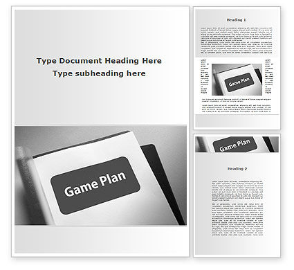Consulting: Game Plan Word Template #09324